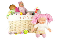 Isolated Toy Box Stock Photography