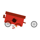 Isolated toy cart damaged design. Toy cart damaged icon. Childhood play fun cartoon and game theme. Isolated design. Vector illustration Stock Photography