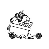 Isolated toy cart damaged design. Toy cart damaged icon. Childhood play fun cartoon and game theme. Isolated design. Vector illustration Stock Image