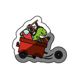Isolated toy cart damaged design. Toy cart damaged icon. Childhood play fun cartoon and game theme. Isolated design. Vector illustration Royalty Free Stock Photos