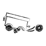 Isolated toy cart damaged design. Toy cart damaged icon. Childhood play fun cartoon and game theme. Isolated design. Vector illustration Stock Photos