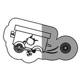 Isolated toy cart damaged design. Toy cart damaged icon. Childhood play fun cartoon and game theme. Isolated design. Vector illustration Royalty Free Stock Photo