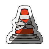 Isolated toy cone damaged design. Toy cone damaged icon. Childhood play fun cartoon and game theme. Isolated design. Vector illustration Royalty Free Stock Photos