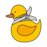 Isolated toy duck damaged design. Toy duck damaged icon. Childhood play fun cartoon and game theme. Isolated design. Vector illustration Royalty Free Stock Photos