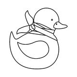 Isolated toy duck damaged design. Toy duck damaged icon. Childhood play fun cartoon and game theme. Isolated design. Vector illustration Stock Image