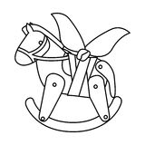 Isolated toy horse damaged design. Toy horse damaged icon. Childhood play fun cartoon and game theme. Isolated design. Vector illustration Royalty Free Stock Photo