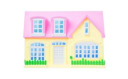 Isolated toy house over white background Royalty Free Stock Photos
