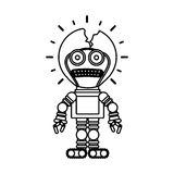 Isolated toy robot damaged design. Toy robot damaged icon. Childhood play fun cartoon and game theme. Isolated design. Vector illustration Royalty Free Stock Image