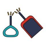 Isolated toy shovel damaged design. Toy shovel damaged icon. Childhood play fun cartoon and game theme. Isolated design. Vector illustration Royalty Free Stock Images