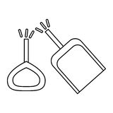 Isolated toy shovel damaged design. Toy shovel damaged icon. Childhood play fun cartoon and game theme. Isolated design. Vector illustration Stock Photo