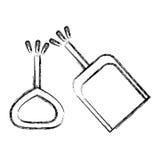 Isolated toy shovel damaged design. Toy shovel damaged icon. Childhood play fun cartoon and game theme. Isolated design. Vector illustration Royalty Free Stock Image