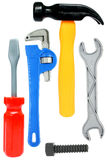 Isolated Toy Toolkit. Plastic toolkit overwhite Stock Photo