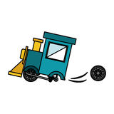 Isolated toy train damaged design. Toy train damaged icon. Childhood play fun cartoon and game theme. Isolated design. Vector illustration Stock Image
