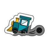 Isolated toy train damaged design. Toy train damaged icon. Childhood play fun cartoon and game theme. Isolated design. Vector illustration Royalty Free Stock Images