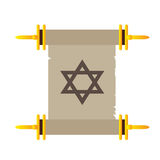 Isolated traditional torah. On a white background, Vector illustration Royalty Free Stock Image