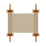 Isolated traditional torah. On a white background, Vector illustration Stock Images