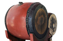 Isolated traditional wat drum. Chiang Mai Thailand stock photography