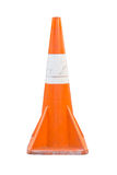 An isolated traffic cone. An orange traffic cone with isolated background Royalty Free Stock Photography