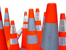 Isolated Traffic Cones Stock Photo