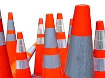 Isolated Traffic Cones Stock Photo