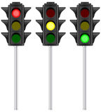 Isolated traffic light Stock Images