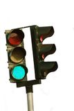 Isolated Traffic Light Stock Photo