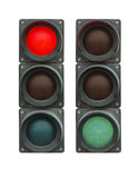 Isolated traffic lights Royalty Free Stock Photography