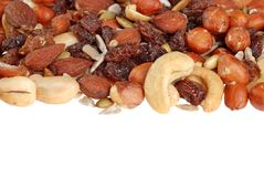 Isolated trail mix Royalty Free Stock Photo