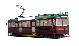 Isolated tram Stock Images