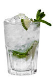 Isolated transparent cocktail with ice 1 Royalty Free Stock Photography