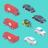 Isolated transport design concept set  illustration Stock Images