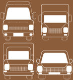 Isolated transport silhouette Stock Images