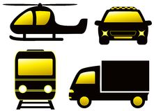 Isolated transport silhouette Stock Image