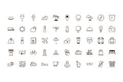 Free Isolated Travel Icon Set Line And Fill Vector Design Royalty Free Stock Photo - 161223055