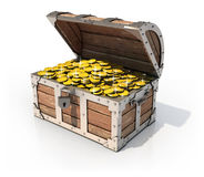 Isolated treasure chest Royalty Free Stock Photography