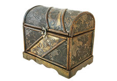 Isolated Treasure Chest Stock Photography