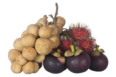 Isolated Tree asian fruits. Mangosteen,rambutan,Wollongong stock images