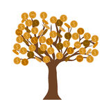 Isolated tree of coins design Stock Photo