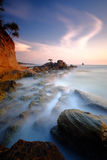 Isolated Tree Long Exposure Labuan Island Royalty Free Stock Photo