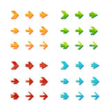 Isolated triangle polygonal arrows set Stock Image