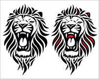 Isolated tribal lion tattoo. Vector illustration of lion head tattoo Stock Illustration