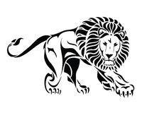 Isolated tribal lion tattoo. Vector illustration of isolated tribal lion tattoo Stock Photography