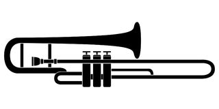 Isolated trombone icon. Musical instrument. Vector illustration design vector illustration