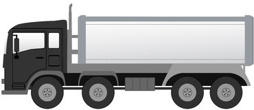 Isolated truck with black cabin Royalty Free Stock Image