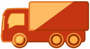 Isolated truck on flat design