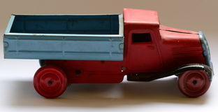 Isolated truck (lorry) toy on white background Royalty Free Stock Photos