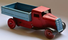 Isolated truck (lorry) toy on white background Stock Image