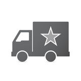 Isolated truck with  the red star of communism icon Stock Photo