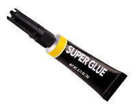 Isolated tube of super glue royalty free stock photos