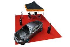 Isolated tuned car, Hyundai Genesis Coupe Stock Photography